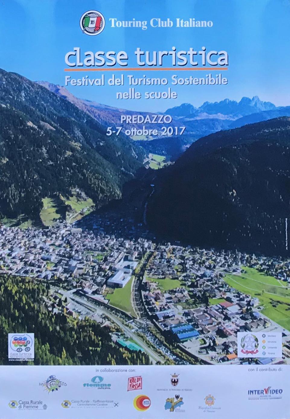 Locandina Festival del Turismo Sostenibile nelle scuole 2018